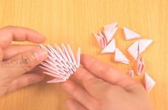3D立體三角插折紙折疊教程圖解 三角插怎么折
