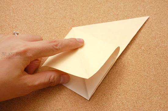 星星盒子折法图解 四角小礼品盒如何折叠 3