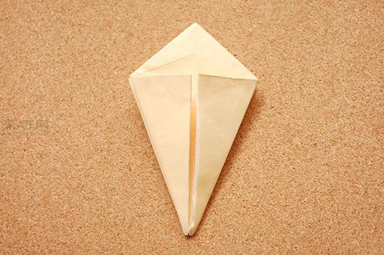 星星盒子折法图解 四角小礼品盒如何折叠 6