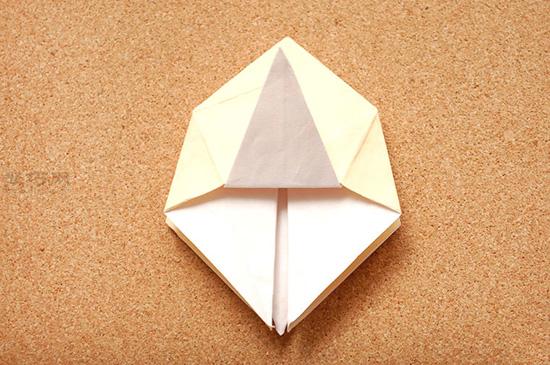 星星盒子折法图解 四角小礼品盒如何折叠 8