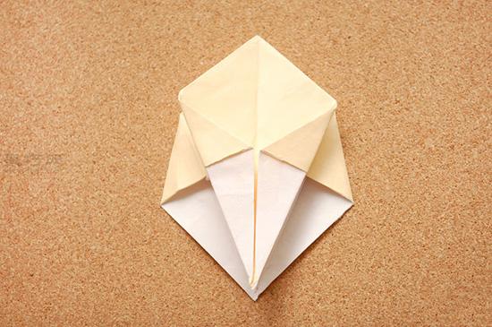 星星盒子折法图解 四角小礼品盒如何折叠 10