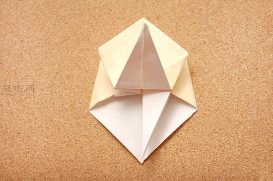 星星盒子折法图解 四角小礼品盒如何折叠 11
