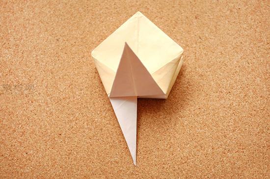 星星盒子折法图解 四角小礼品盒如何折叠 14