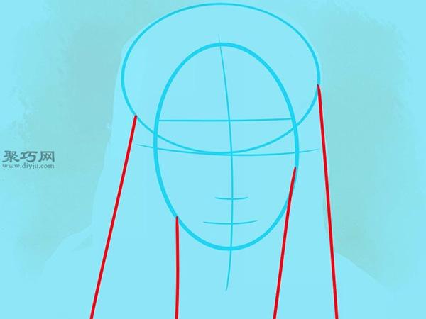如何画美国说唱歌手李尔韦恩肖像画 5