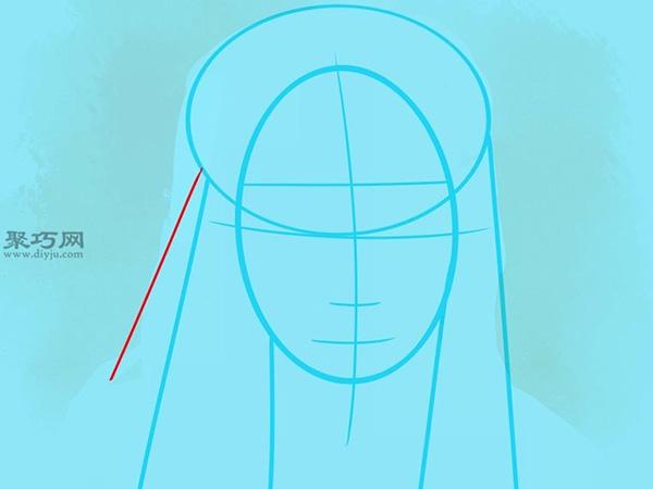 如何画美国说唱歌手李尔韦恩肖像画 6