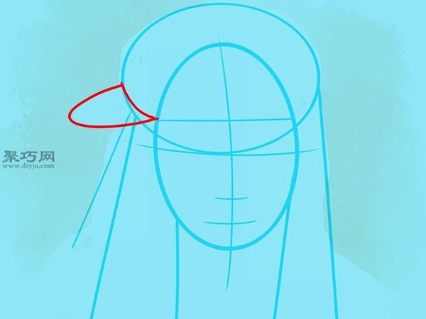 如何画美国说唱歌手李尔韦恩肖像画 7