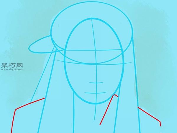 如何画美国说唱歌手李尔韦恩肖像画 8