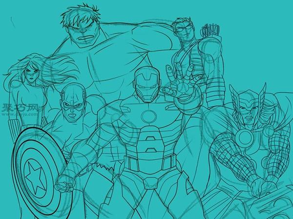 历险漫画《复仇者英雄》联盟漫画-聚巧网手绘团队图片