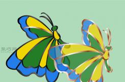彩色玻璃蝴蝶手工制作教程 如何DIY彩色玻璃方法圖解