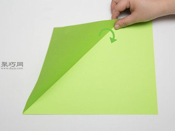 最简单折纸刀子的方法 5步学会如何折水果刀 2