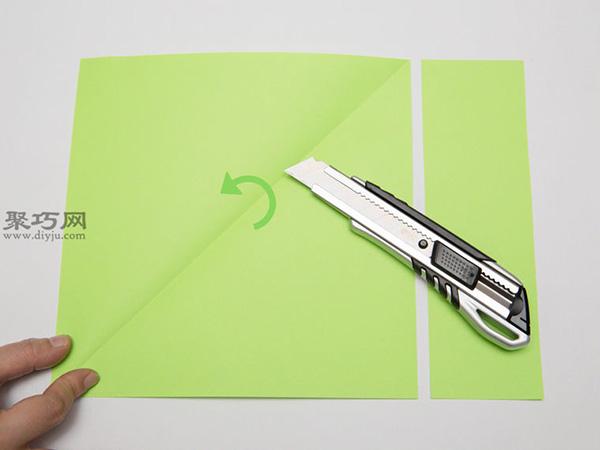 最简单折纸刀子的方法 5步学会如何折水果刀 3