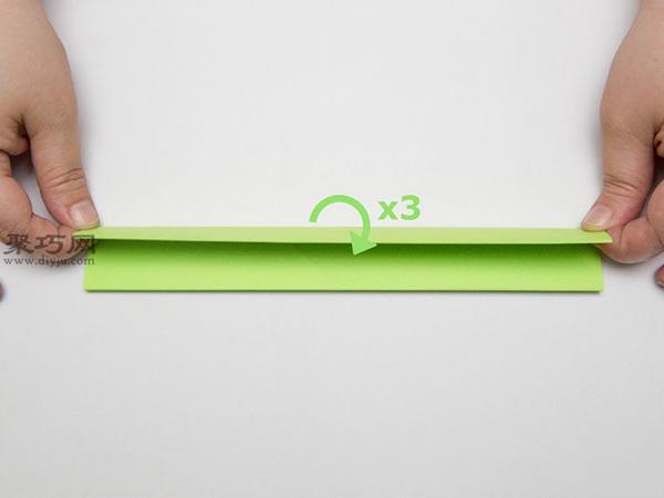 最简单折纸刀子的方法 5步学会如何折水果刀 4