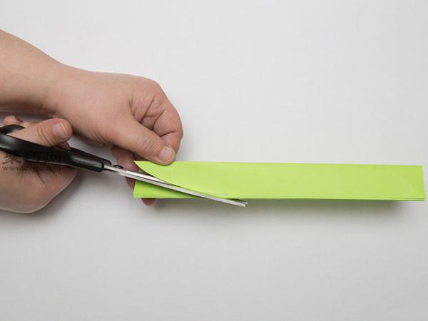 最簡單折紙刀子的方法 5步學會如何折水果刀 5