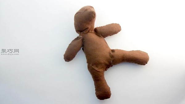 旧衣服手工制作玩偶泰迪熊公仔教程 如何DIY立体泰迪熊布艺娃娃步骤图解