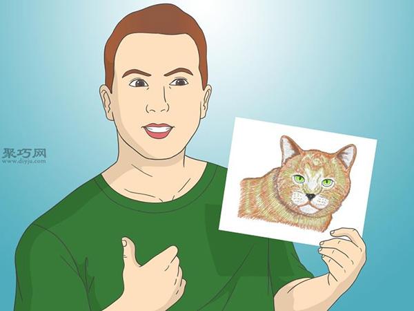 怎样画出一幅好画 铅笔素描猫的画法步骤 15