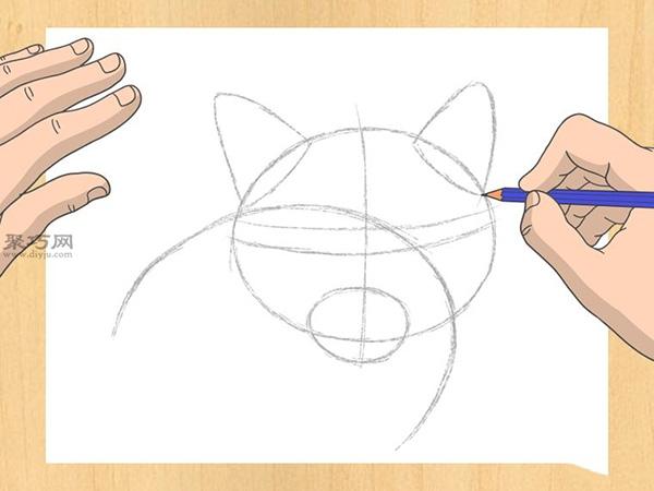 怎样画出一幅好画 铅笔素描猫的画法步骤 8