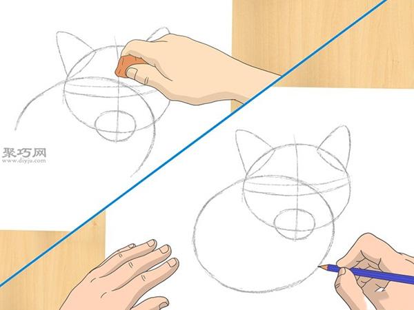 怎样画出一幅好画 铅笔素描猫的画法步骤 9