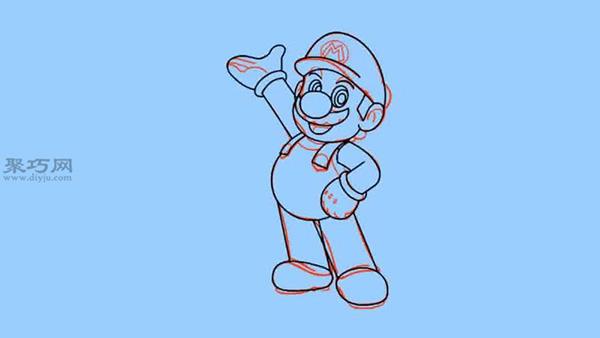 简笔画马里奥的画法步骤 教你怎么画马里奥