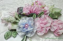 如何用絲帶折玫瑰花 緞帶編織玫瑰花步驟圖解