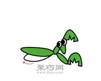 螳螂简笔画的画法步骤5