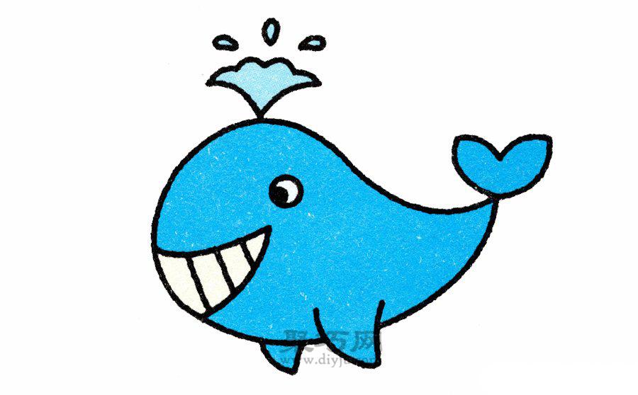 动物的简笔画画法,今天给大家推荐会喷水的鲸鱼的画法,这是一个非常