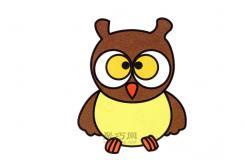 卡通貓頭鷹怎么畫最簡單 這篇簡筆畫教程教你