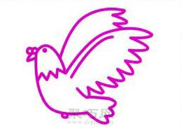 鸽子简笔画的画法