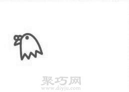 鸽子简笔画的画法步骤1