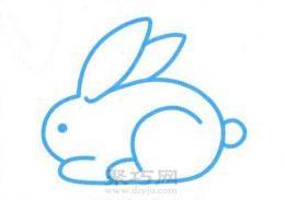 兔子簡筆畫的畫法