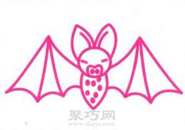 蝙蝠简笔画的画法