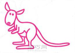 袋鼠簡筆畫的畫法