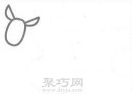 袋鼠簡筆畫的畫法步驟1