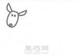 袋鼠簡筆畫的畫法步驟2