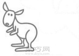 袋鼠簡筆畫的畫法步驟3