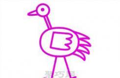 鴕鳥簡筆畫教程教你世界上最大的鳥怎么畫