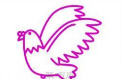 一個適合小學生畫和平鴿的簡筆畫教程