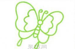 一個畫蝴蝶的方法 教你畫又簡單又漂亮的蝴蝶