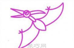 在天上飛的恐龍怎么畫?這里教你畫一個會飛的翼龍