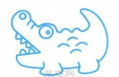最簡單的幼兒畫鱷魚簡筆畫教程 不知道怎么畫的小朋友快來看