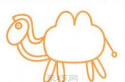教你怎么畫沙漠雙峰駱駝簡筆畫 也許是過程最簡單的畫法了
