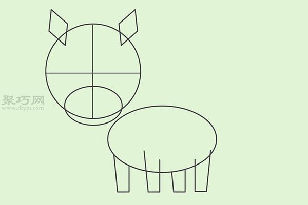 卡通马的画法 教你怎么画马