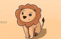 畫畫卡通獅子的步驟 教你畫獅子畫法