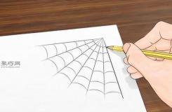 角落的蜘蛛網畫法步驟 教你畫蜘蛛網畫法