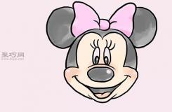 畫米妮的臉的步驟 教你畫米老鼠畫法