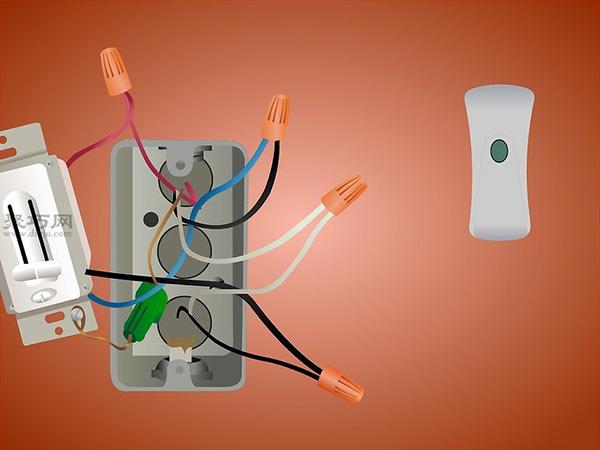 接线 - 很大可能是电源线对应遥控器的输入线(黑对黑, 白对白),吊扇