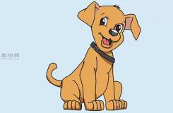 畫側面卡通狗的步驟 一起學如何畫一只狗