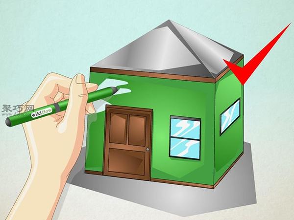 正方形画房子的画法 24