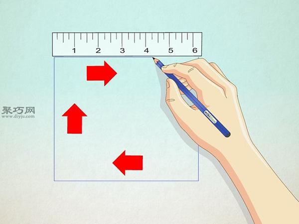 正方形画房子的画法 17