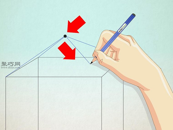 正方形画房子的画法 21