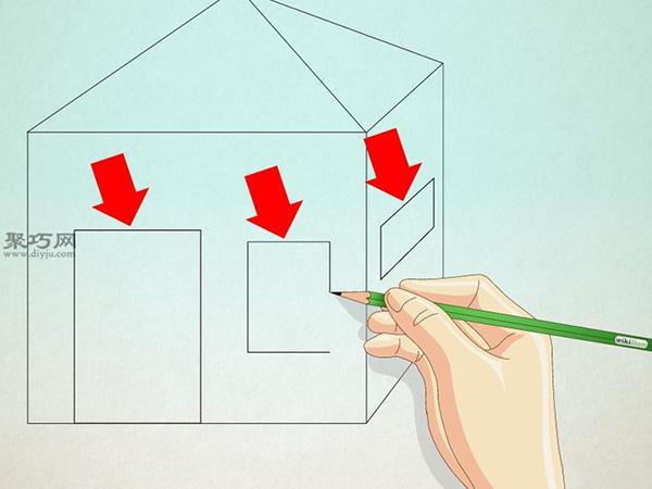 正方形画房子的画法 23